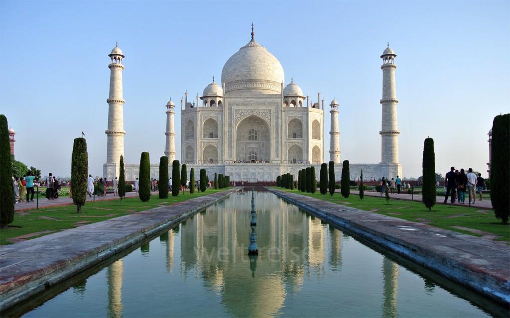 Eine Weltreise planen : Pflichtprogramm das Taj Mahal in Indien